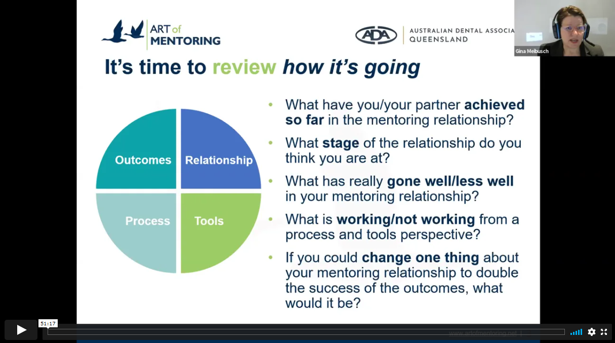 Progress Review E-Mentoring Webinar